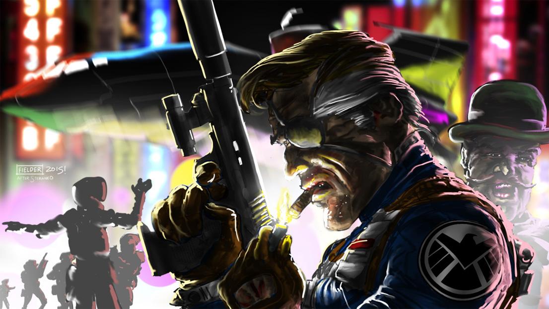 Nick Fury Agents of Shield Illustration