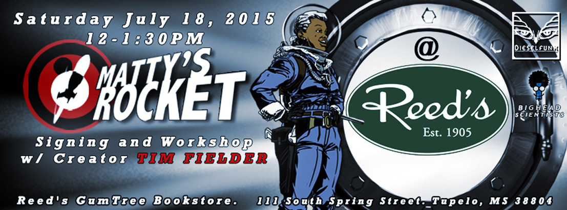 Matty Rocket Announcement for Signing and workshop at Reed's