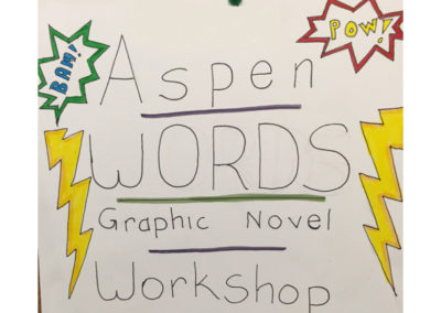 Aspen Comics Workshop Sign