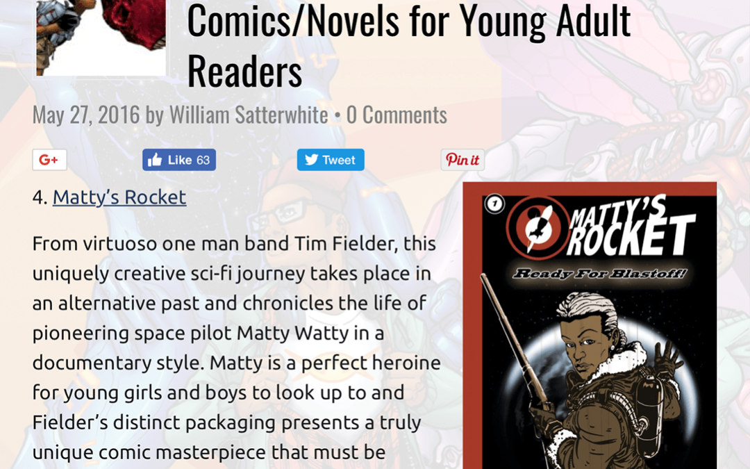 Mattys Rocket In Top 10 Comics Novels For Young Adult Readers