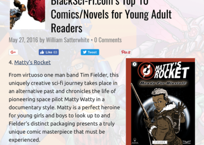Matty's Rocket Top 10 Comics Novels for Young Adults